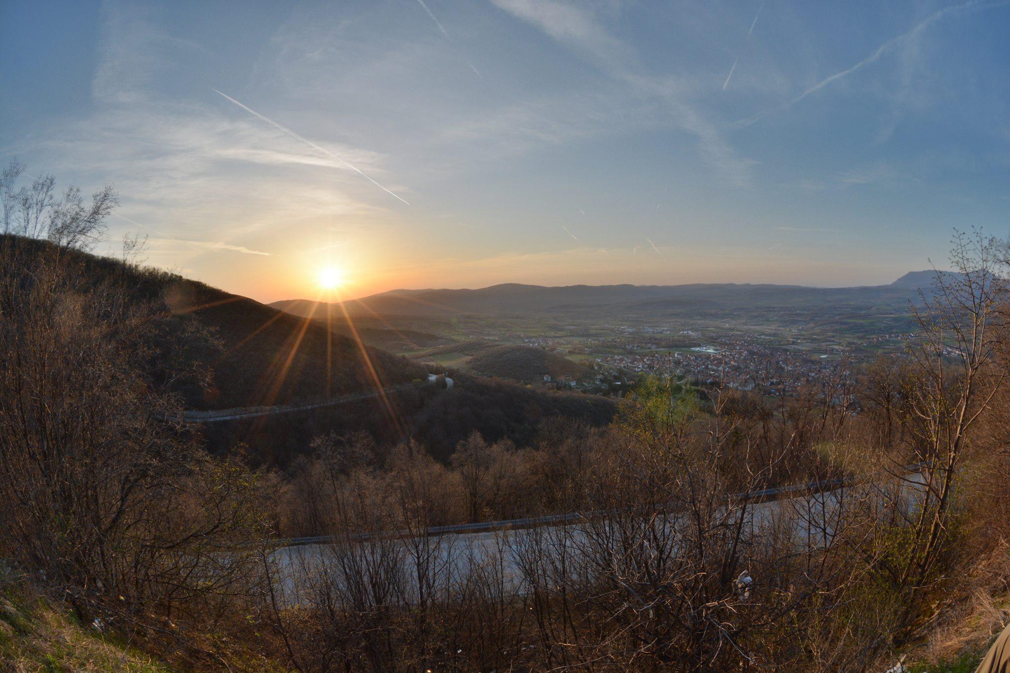 zalazak sunca iznad sokobanje