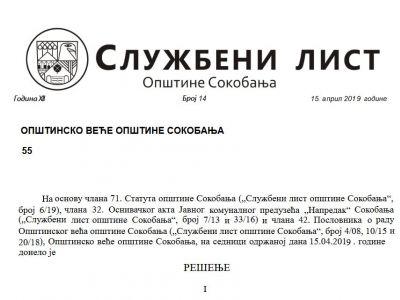 Službeni list opštine br.14 i 15