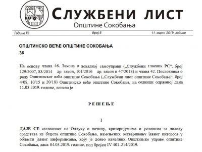 Službeni list opštine Sokobanja br. 8,9 i 10