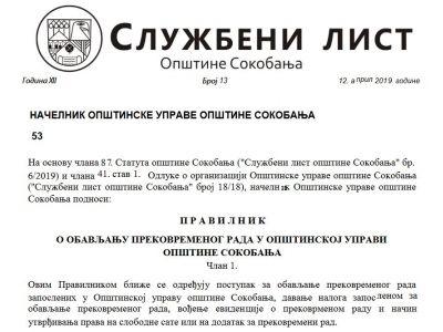 Službeni list opštine br.13