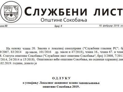 Službeni list opštine Sokobanja br.4 2019