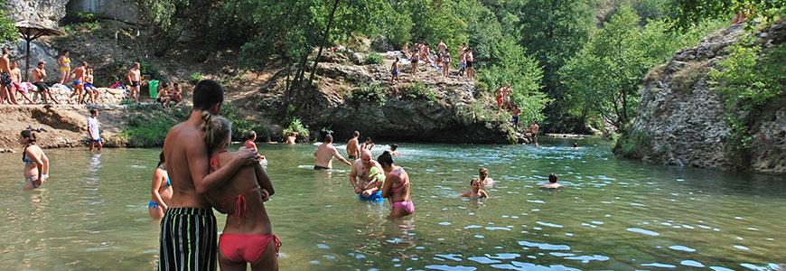 Reka Moravica / kupališta