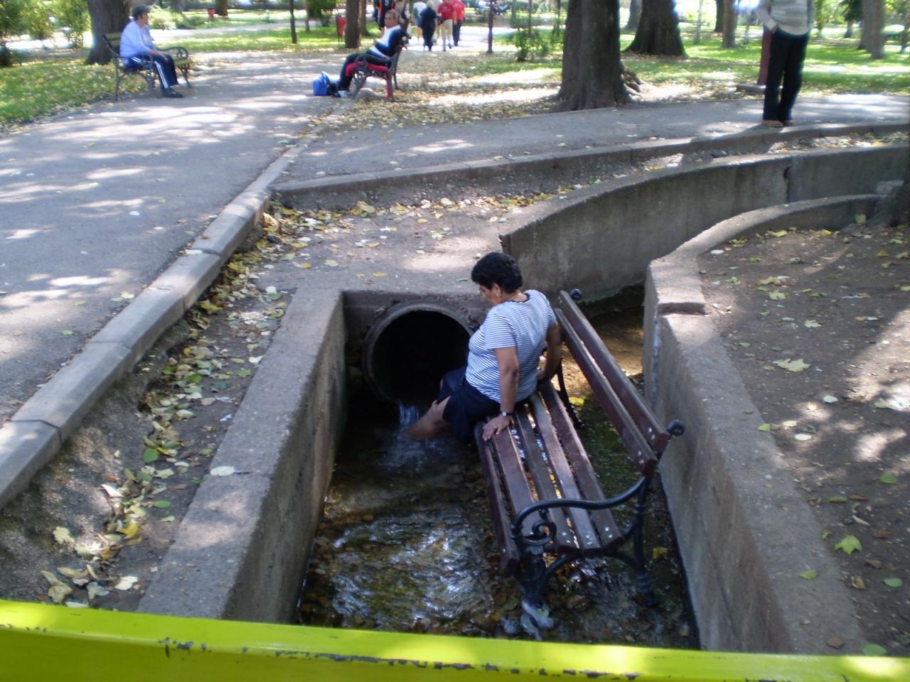 brckanje nogu u potoku