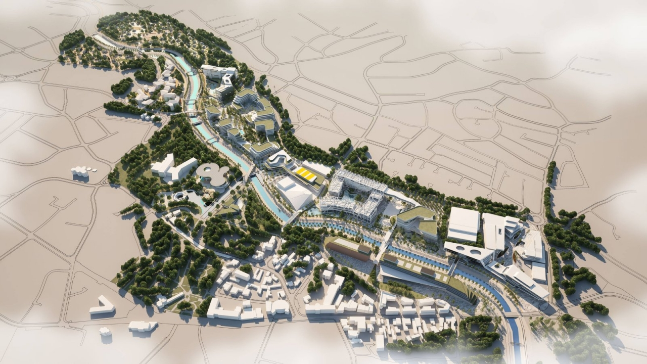 Dispozicija rešenja priobalja reke Moravica u Sokobanji