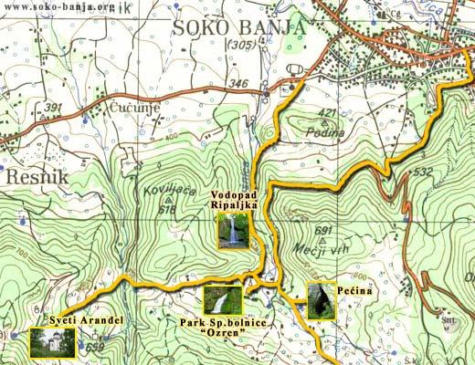 Mape Sokobanje | Sokobanja - 💚 Zeleno srce Srbije