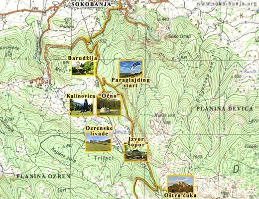 soko banja mapa Mape Sokobanje | Sokobanja   Vodič kroz grad soko banja mapa