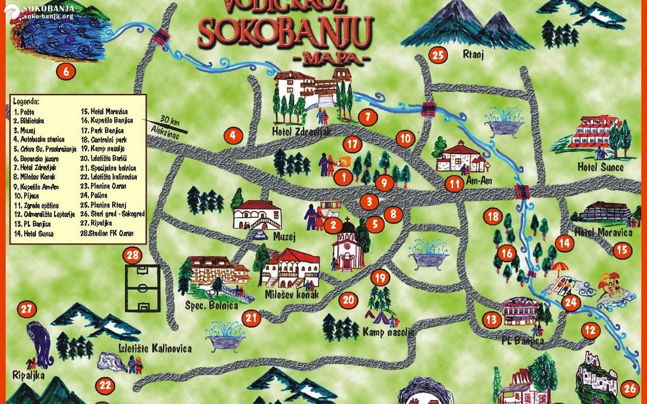 Mape Sokobanje Sokobanja Zeleno Srce Srbije