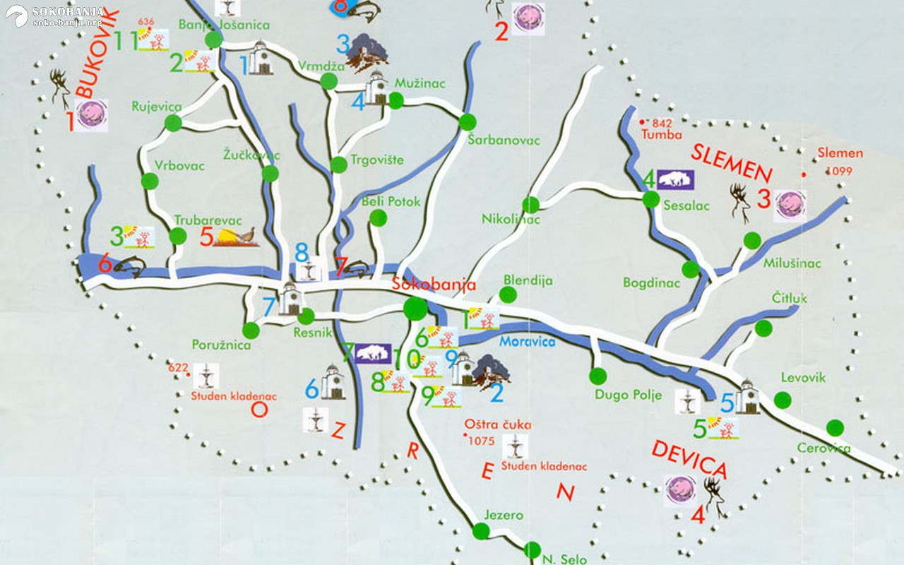 Mape Karte I Planovi Sokobanja Zeleno Srce Srbije