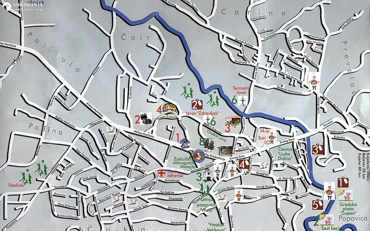 Mape Sokobanje   Sokobanja - 💚 Zeleno srce Srbije